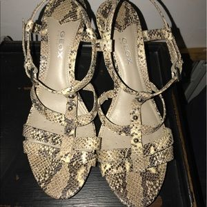 Snake print sandals from Geox