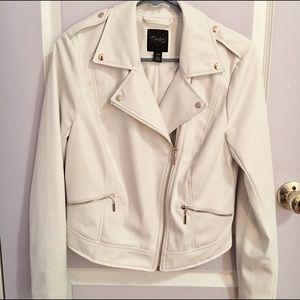 Thalia Sodi Jackets & Blazers - White Faux Leather Jacket
