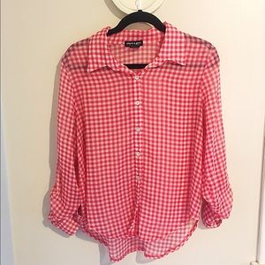 About A Girl Tops - Gingham Top