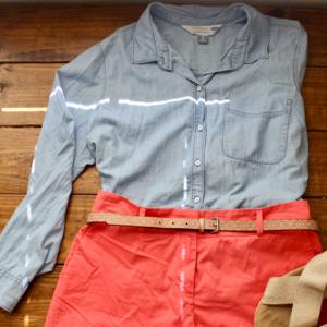 "Old Navy ""the classic"" chambray denim shirt"