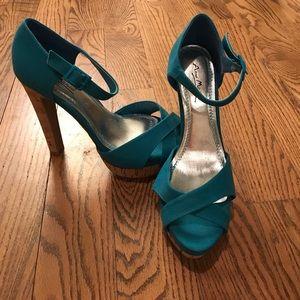 Anne Michelle Shoes - Like new platform cork heels