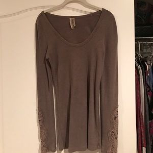 Brown free people Henley