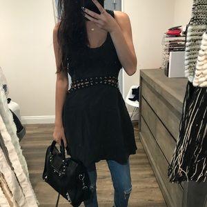 Nasty gal black corset detail dress. Size small