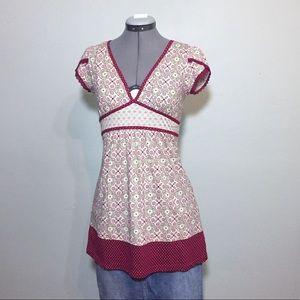 Decree Tops - Decree Tunic Top Blouse with Adjustable Tie Waist