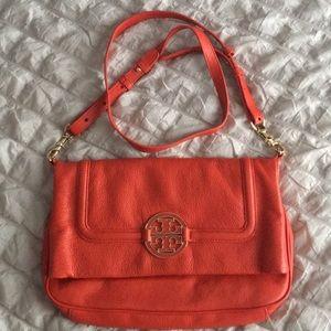 Tory Burch Handbags - Tory Burch Red Amanda Foldover Crossbody Purse