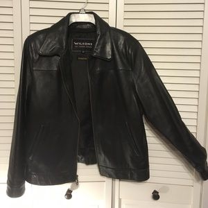 Wilsons Leather Other - Wilsons Black Leather Jacket x zip in lining
