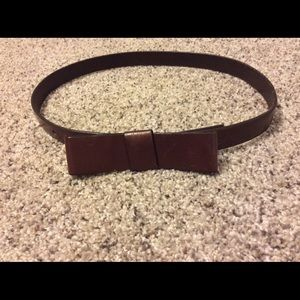 Gap brown leather belt with bow