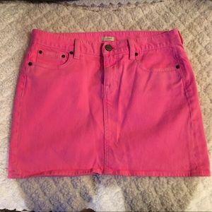 J. Crew Dresses & Skirts - HOT PINK Denim Skirt