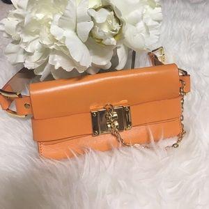 Rachel Zoe Handbags - Rachel Zoe Orange Waist Bag/Clutch