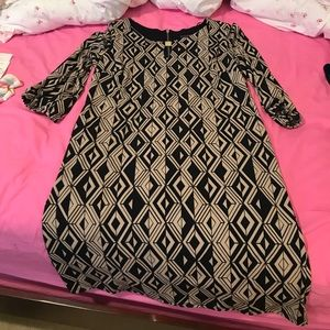 En Focus Dresses & Skirts - En focus navy and tan dress size 14