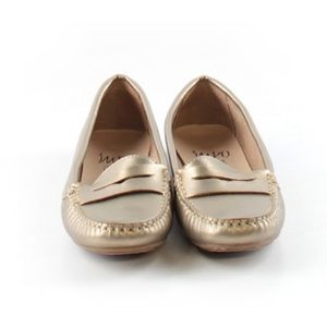 Impo Leather Lining Gold Loafers Sz.6