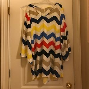 Dresses & Skirts - Multicolored chevron dress