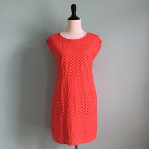 Dresses & Skirts - Coral Eyelet Shift Dress