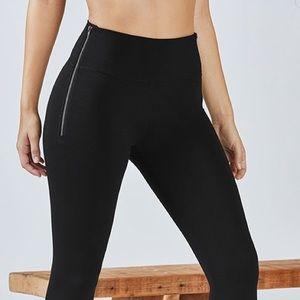 Fabletics Pants - NEW WITH TAGS Fabletics HW Black Zipper Leggings