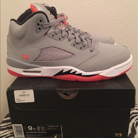 900990cda601 🆕Nike Air Jordan 5 Retro GG (GS) Hot Lava Size 9Y