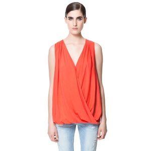 Zara draped blouse