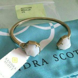 Kendra Scott White Banded Agate Brinkley bracelet