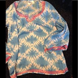 diane gilman Other - Tie Dye Silk Tunic/Cover up