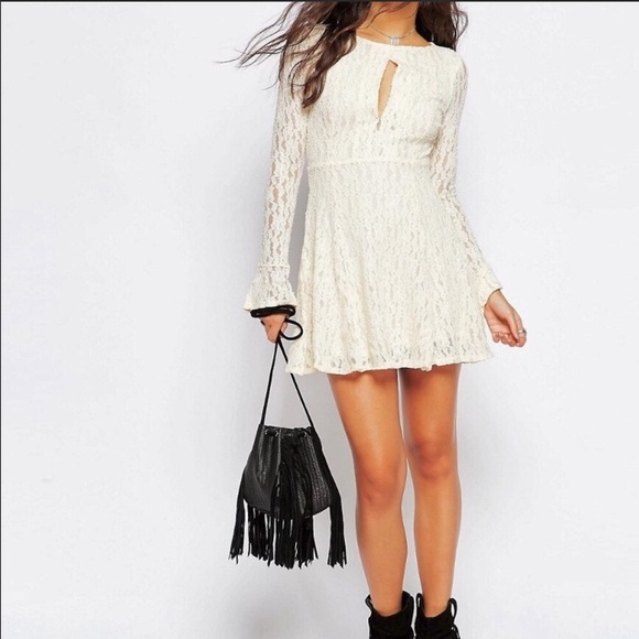 61 Off Free People Dresses Amp Skirts Cream Colored Free