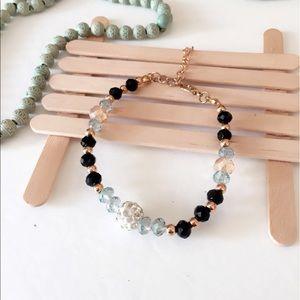 Jewelry - #A94 25% off Black Swarovski Crystal Bracelet