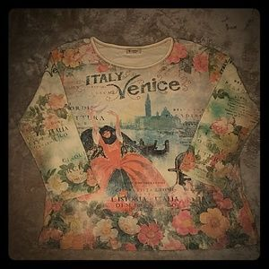 Cactus Tops - Venice, Italy 3/4 sleeve top