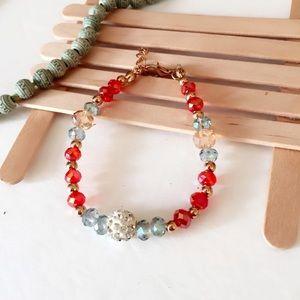 Jewelry - #A96 25% off  Red Swarovski Crystal Bracelet