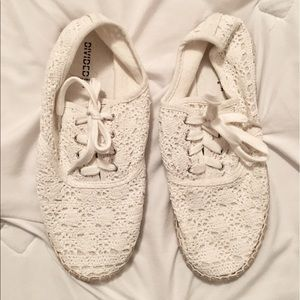 Divided Shoes - Divided H&M lace up white espadrilles