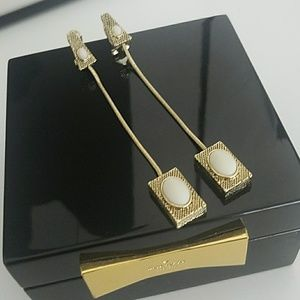 House of Harlow 1960 Jewelry - House of Harlow Tanta Crosshatch Drop Earrings