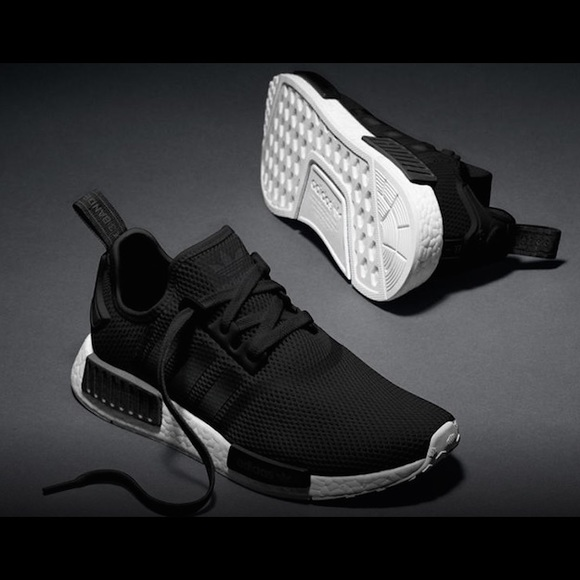 Adidas NMD youth sneakers in black and white