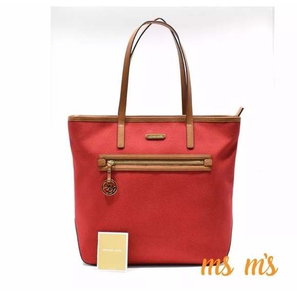 a62249c20351 ... coupon code for salefirm price nwt michael kors canvas tote 68081 e88a0