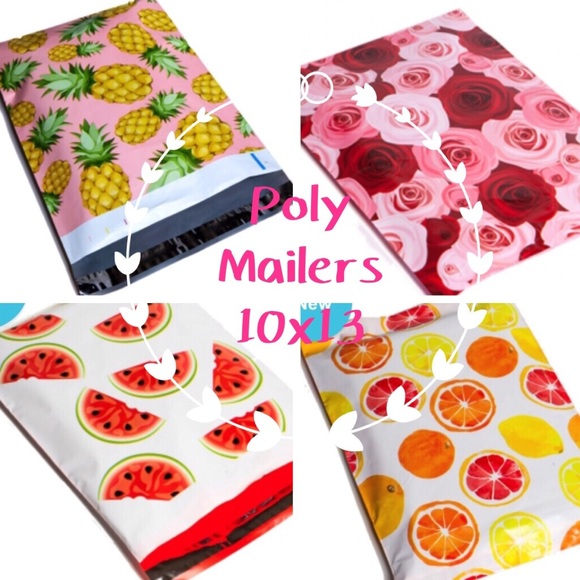 "Handbags - 100 Pack 🍉🌹🍍🍊Poly Mailers 10""x13""4 print mix"