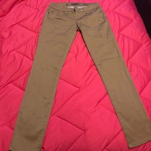 KHAKI LOW RISE SKINNY CELEBRITY PINK JEANS/PANTS