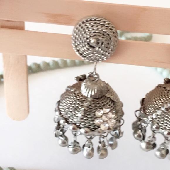 Jhumki style earrings indian style