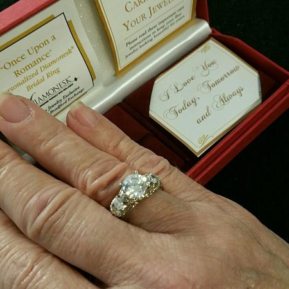 Bradford Exchange Jewelry Salediamonesk Diamond Ring 3ctw 925 New