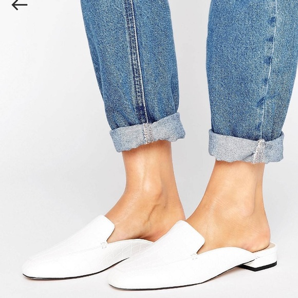 ASOS Shoes | White Mules | Poshmark