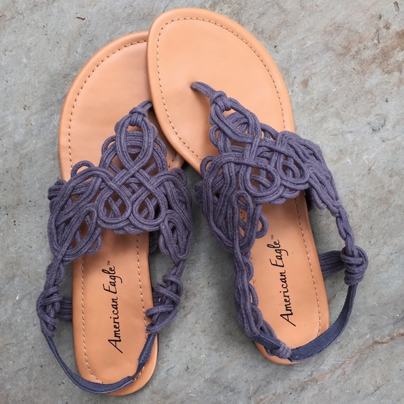 87fd6de7754fa1 American Eagle by Payless Shoes - Crocheted Denim Look Flat Thong Sandals