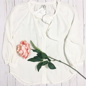 Joie Tops - Joie 100% Silk White Long sleeve Blouse.