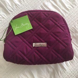 Vera Bradley Handbags - Vera Bradley Medium Zip Cosmetic Bag - Plum