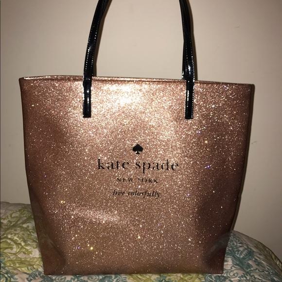 79e399193 kate spade Bags | Rose Gold Glitter Tote | Poshmark