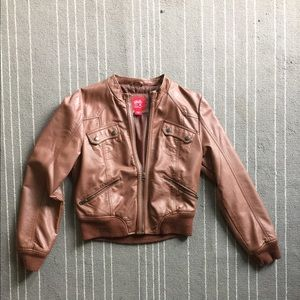 Collection B Jackets & Blazers - Brown bomber jacket