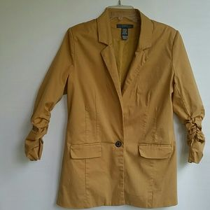 Cavi Mustard Yellow Light Jacket Size Large