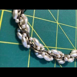 "Jewelry - Fun Fashion Cultured ""Pearl"" and Silver-tone Ovals"
