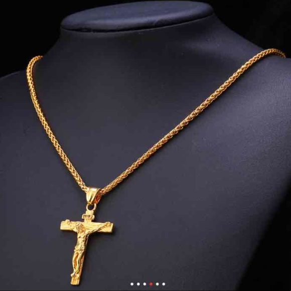 Jewelry new 18k gold cross necklace for men poshmark new 18k gold cross necklace for men aloadofball Gallery