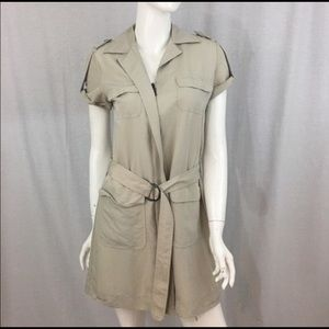 New York & Company Dresses & Skirts - 🍭Small New York & Co Zip Front Belted Shirt Dress