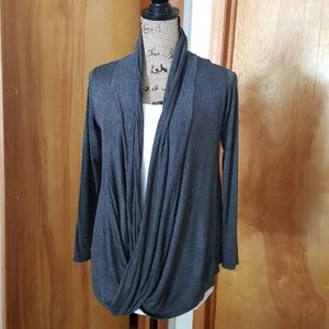 Rags and Couture Tops - Charcoal color top