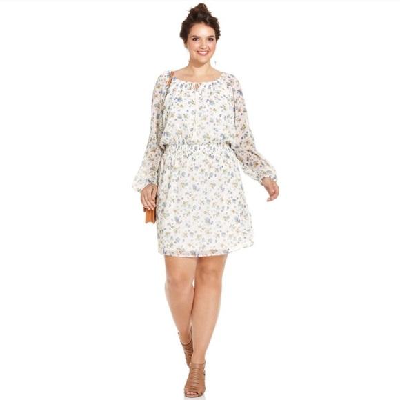 Dresses & Skirts - NWT Jessica Simpson Floral LongSleeve Boho Dress