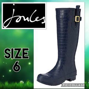 Joules Shoes - NWT Joules Wellies Crockington Navy Rain Boots Sz6
