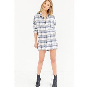 Urban Outfitters BDG plaid button down top tunic
