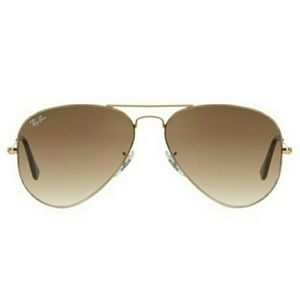 Ray-Ban Accessories - Ray-Ban Brown Gradient Sunglasses Gold Metal Frame