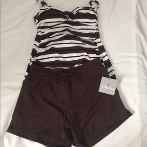 Other - Athleta XS Swim Short Merona S/P Tankini Top NEW